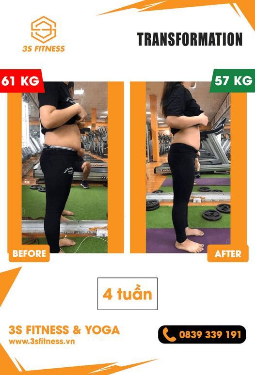 Chiến dịch thay đổi bản thân cùng 3S Fitness & Yoga Chị Nguyễn Thị Oanh